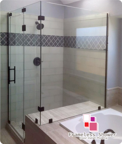 Frameless Shower Door Install Phoenix Scottsdale Custom Enclosures Az