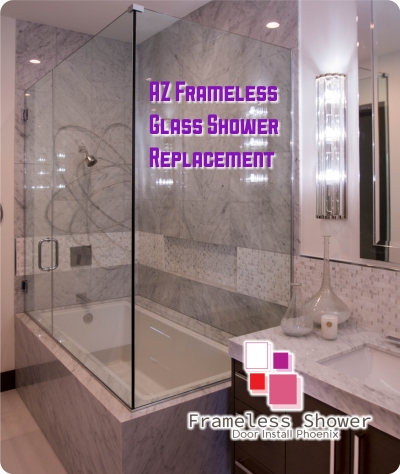 AZ Frameless Glass Shower Replacement
